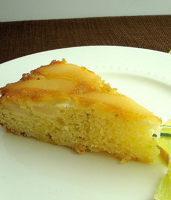 Ginger Pear Upside Down Cake