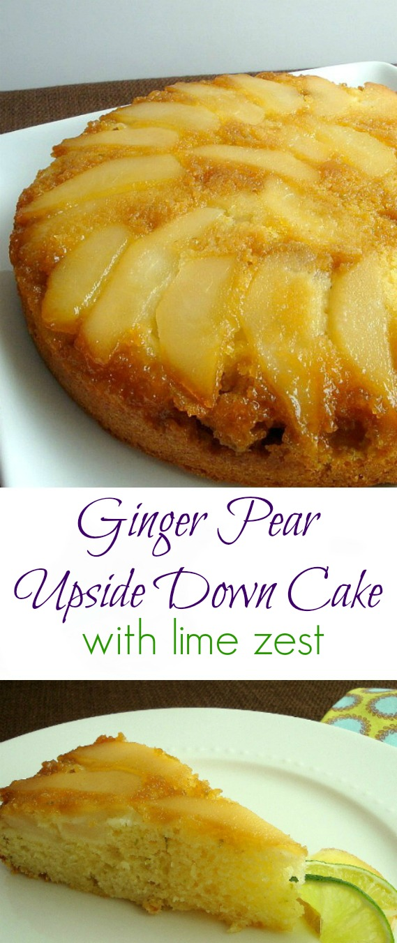 """Ginger Pear Upside Down Cake is light, moist and """"almost"""" guilt-free."""