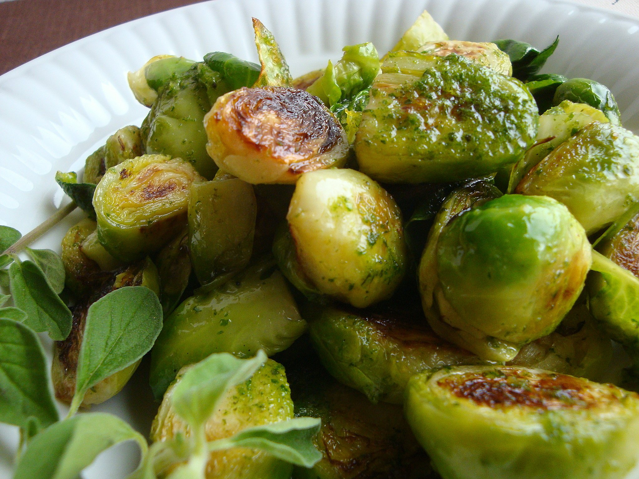 Oregano Brussels Sprouts Recipe — Dishmaps