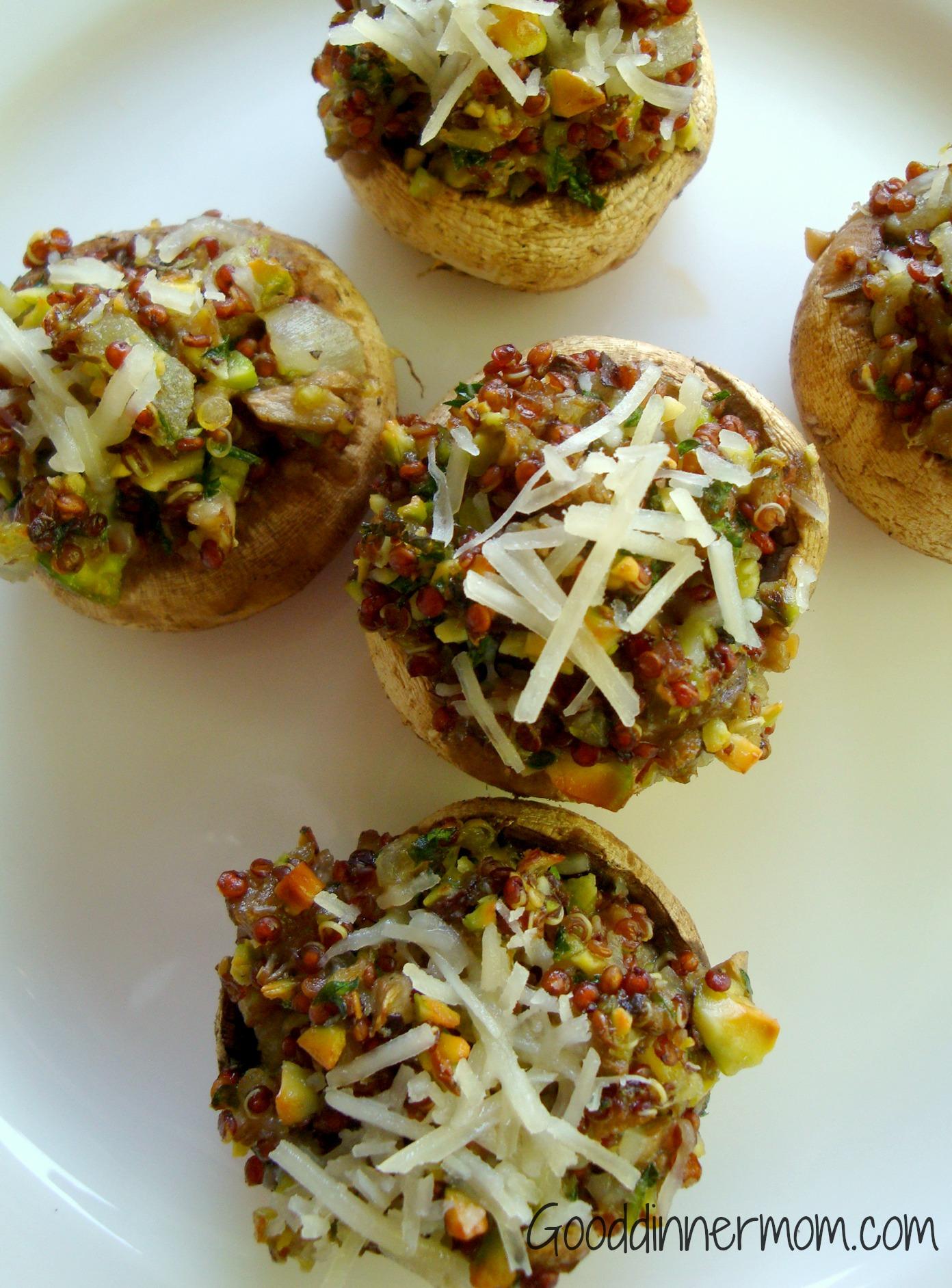 Good Dinner Mom   Stuffed Mushrooms with Quinoa - Good Dinner Mom