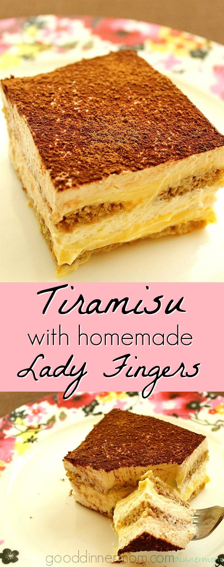 Tiramisu with homemade Ladyfingers will rival the best from any restaurant. Perfect hints of cocoa, rum and coffee, creamy and decadent. Super easy to make.