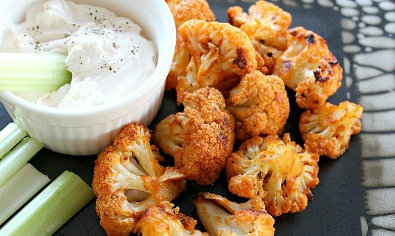 Loaded with flavor but without the fat and calories of chicken, these Cauliflower Buffalo Bites are a delicious, healthy option.