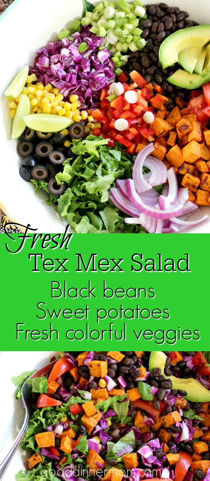 Black beans, roasted sweet potatoes and other colorful vegetables make thisTex Mex Sweet Potato Salad a great main dish or side with chicken or salmon.