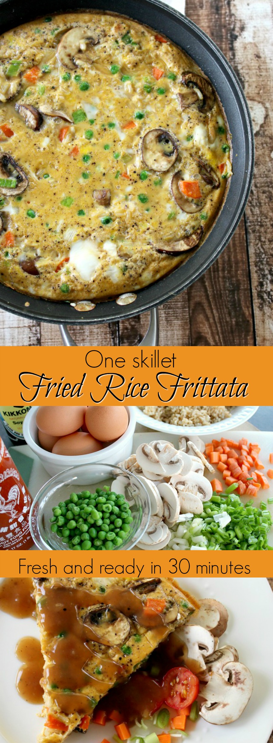 Here's a quick and fresh weeknight frittata you can whip up in no time, especially if you have some leftover brown rice.