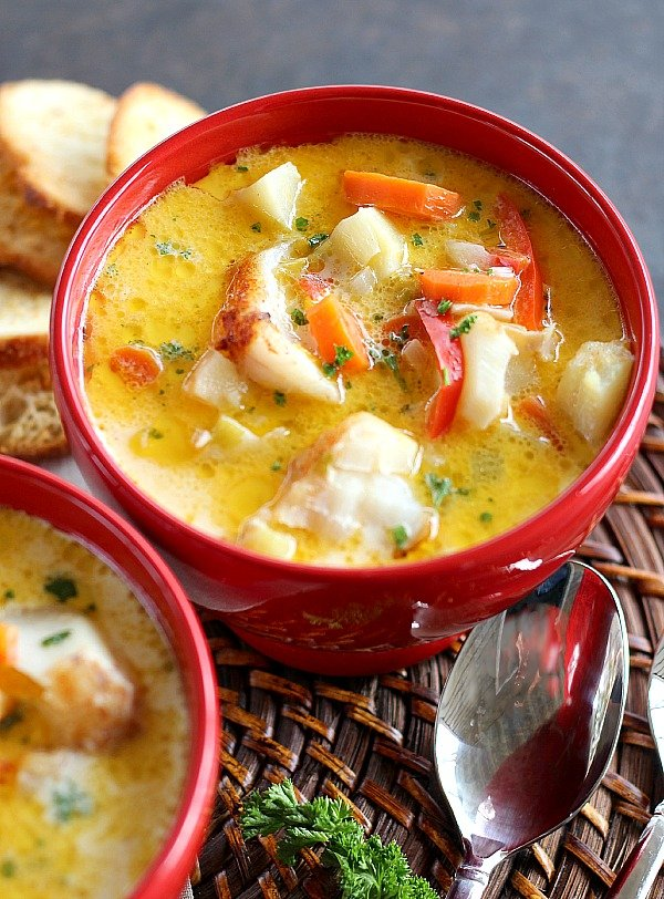 Oven baked chowder good dinner mom for Fish broth recipe