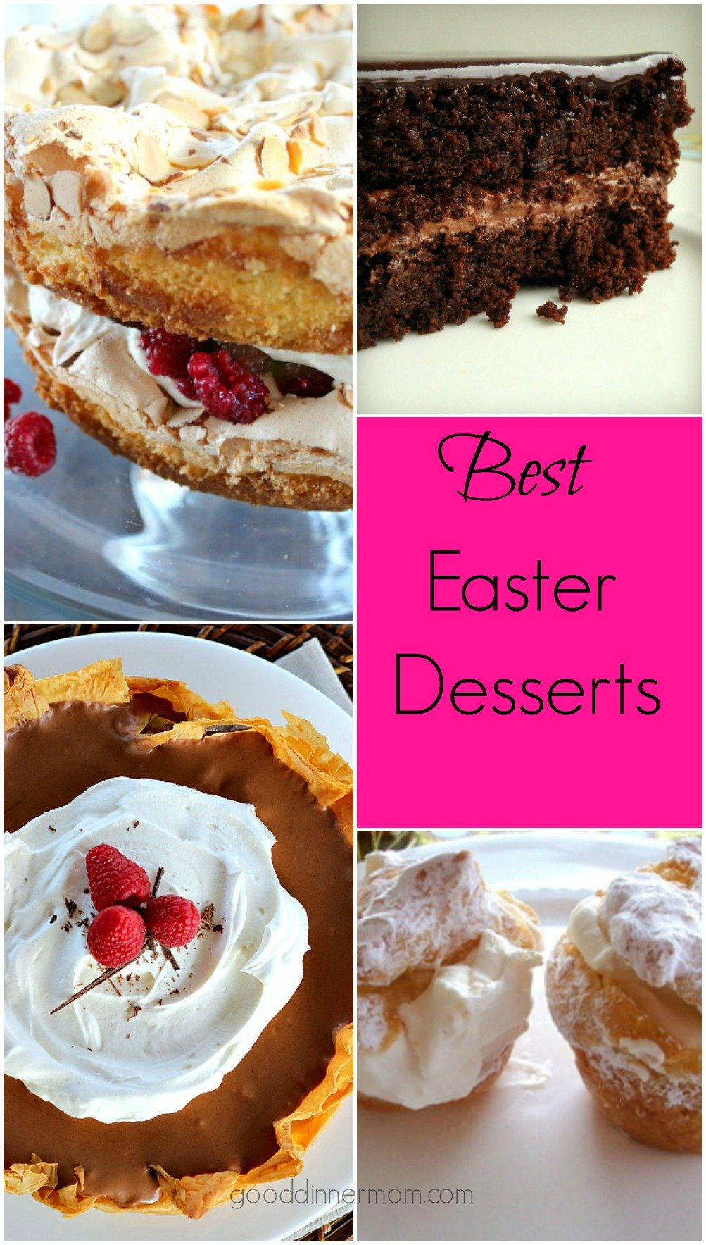 Here's a list of Easter Desserts to please everyone!