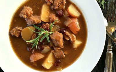 Cranberry Beef Stew in the Slow Cooker