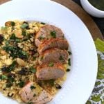 Mediterranean Pork Tenderloin with Couscous {Slow Cooker}