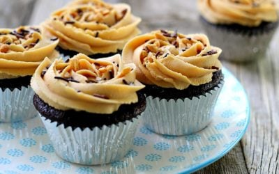 Chocolate Coca-Cola Cupcakes with Salted Peanut Butter Buttercream