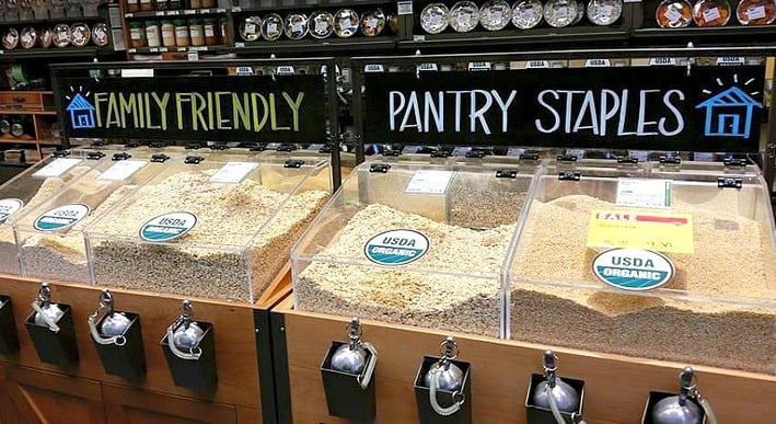 Stocking Your Pantry Healthy with dry goods, canned goods and condiments.