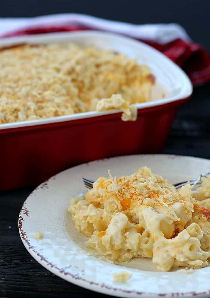 My Grandma Phyllis' Famous Baked Macaroni and Cheese recipe.