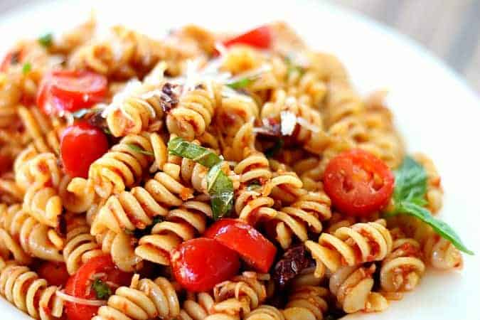 Pasta Salad with Sun-Dried Tomatoes, Basil and Parmesan ...