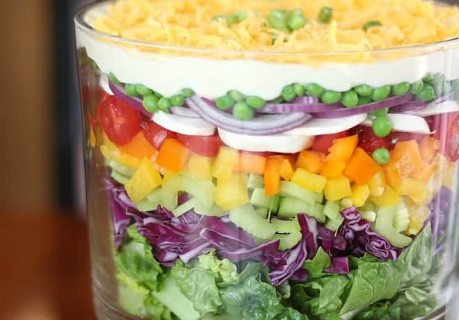 Layered Salad – Good Dinner Mom