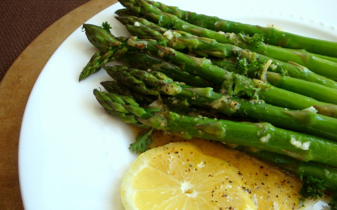 Roasted Asparagus and Dijon-Lemon Sauce
