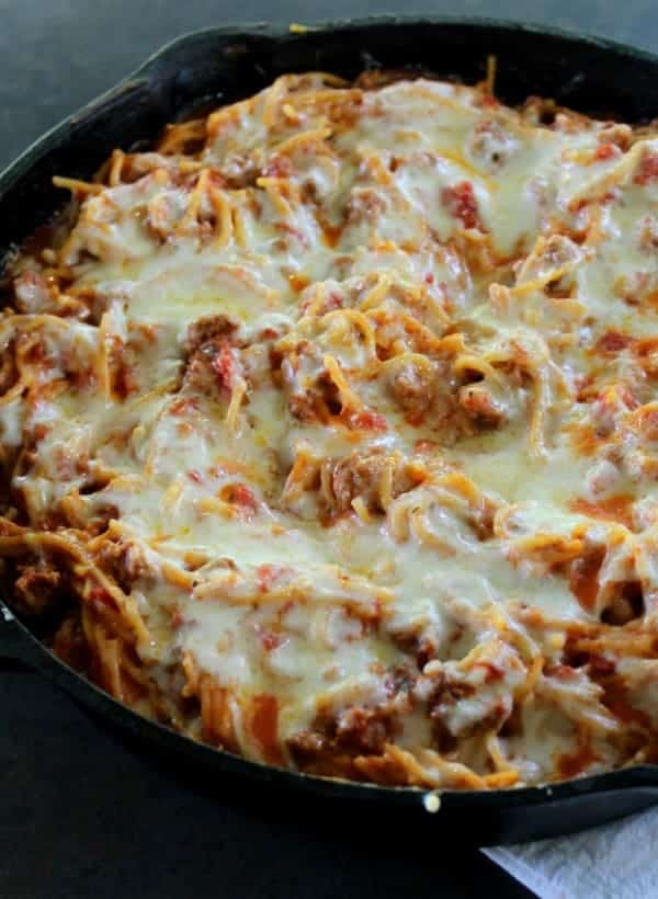 Skillet Baked Spaghetti. . Authentic Italian flavor, fresh ingredients ...