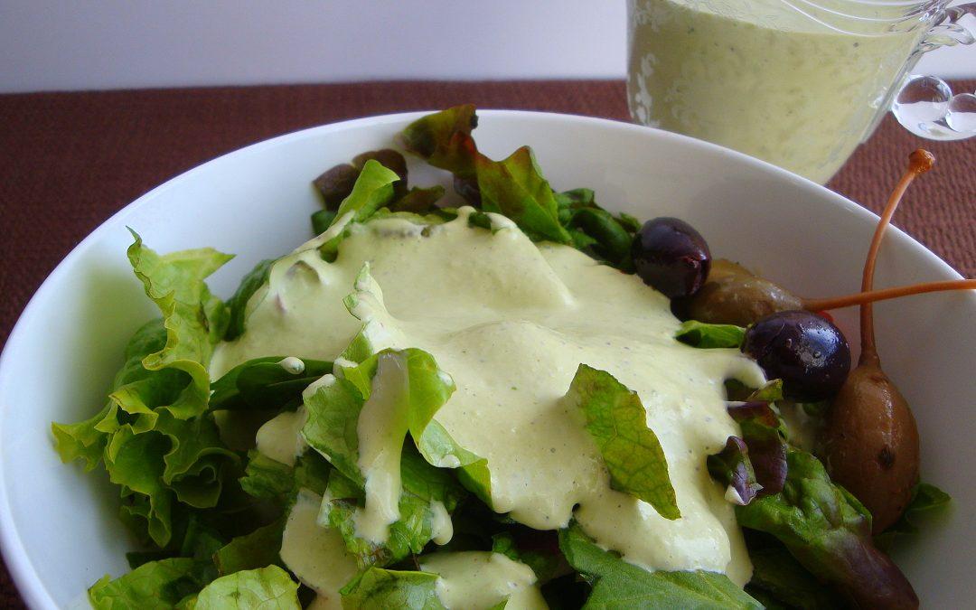 Basil Green Goddess Salad Dressing