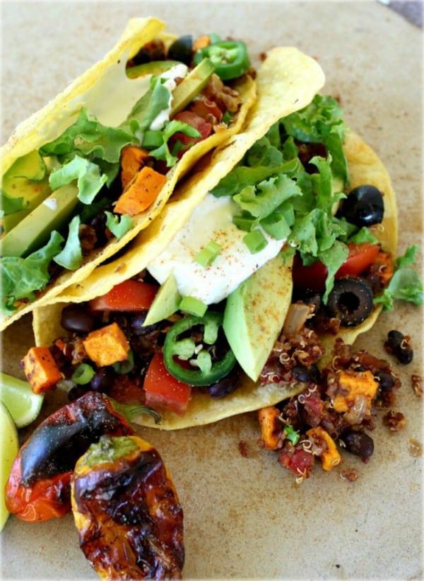 Black Bean Quinoa Tacos