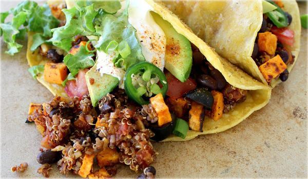 Black Bean and Quinoa Tacos