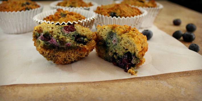 Blueberry Muffins with Coconut and Chia Seeds - Grain Free - Good ...