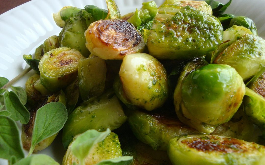 Brussels Sprouts with Oregano Oil