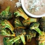 Buffalo Style Roasted Broccoli