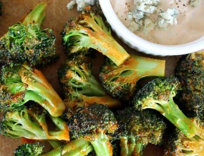 Buffalo Style Roasted Broccoli
