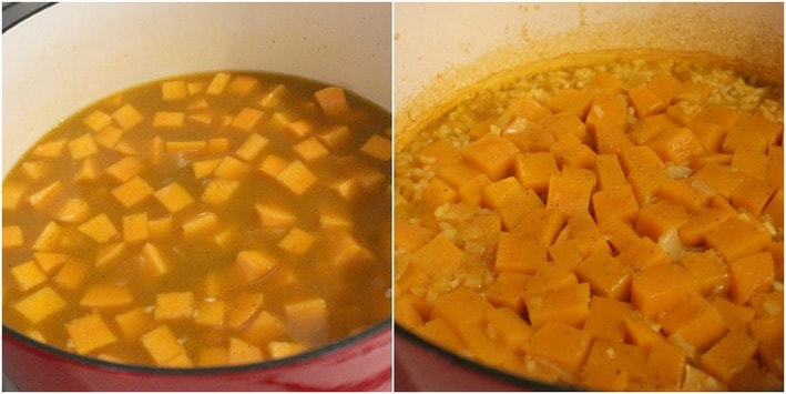 Oven Risotto with Butternut Squash
