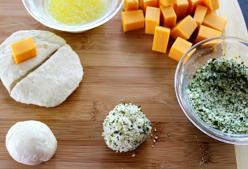 Cheese Bombs prep