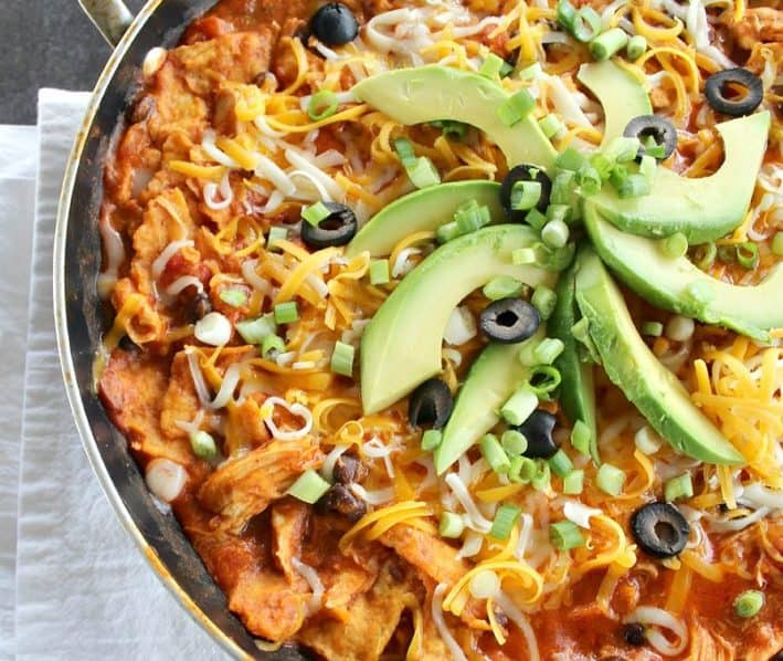Chicken Enchiladas In A Skillet