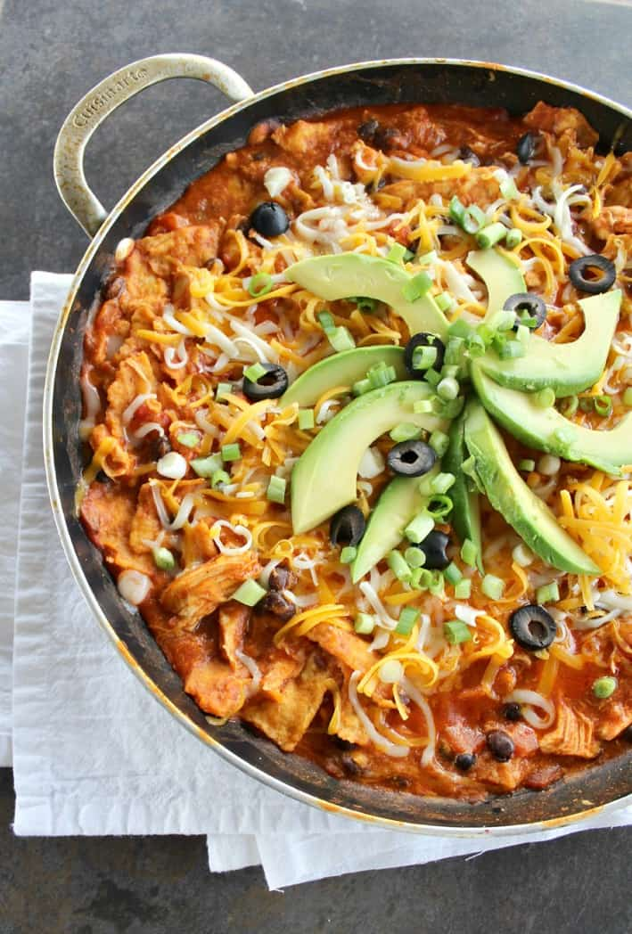 Chicken Enchiladas In A Skillet - Good Dinner Mom
