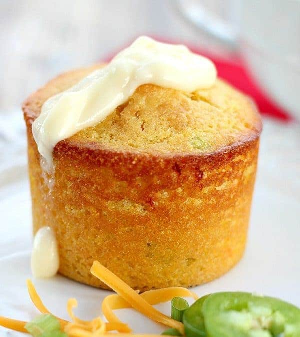 Cornbread Muffins with Cheddar, Scallions and Jalapenos