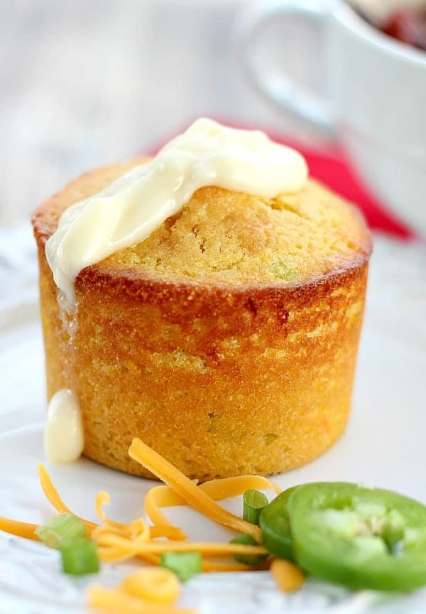 Cornbread Muffins with Cheddar, Scallions and Jalapeno