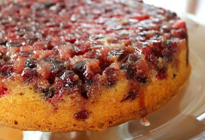 Cranberry Pumpkin Upside Down Cake Recipe