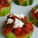 Sun-Dried Tomato and Feta Cucumber Wheels