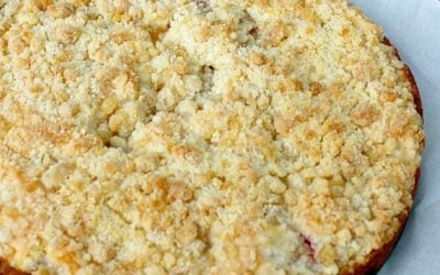 Fruit Buckle with Ginger Crumb Topping