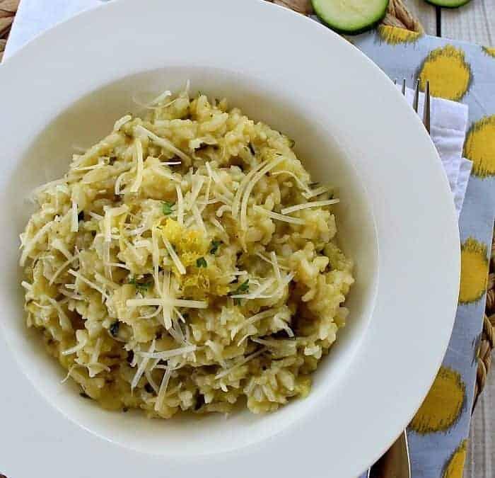 Lemon Zucchini Risotto