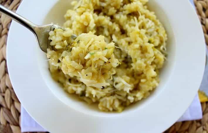 Easy Lemon Zucchini Risotto