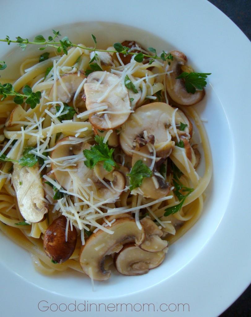 Linguine With Lemon, Garlic, And Thyme Mushrooms Recipe ...