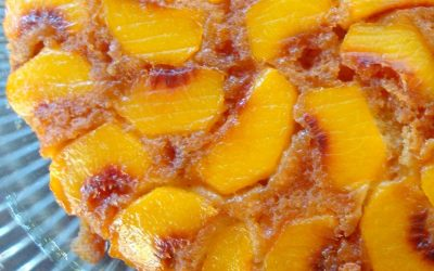 Peach Tatin or Peach Upside Down Cake