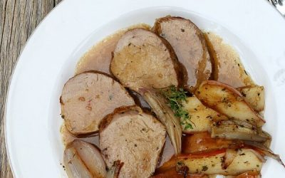 Amazing Pork Tenderloin with Pears and Shallots