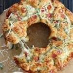 Pull Apart Cheesy Pizza Bread