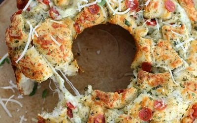 Pull Apart Cheesy Pizza Bread