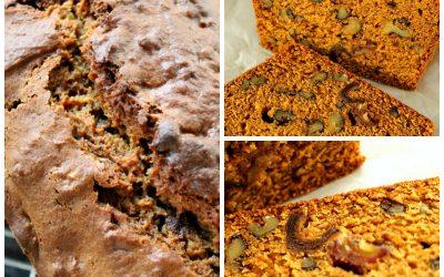 Pumpkin Walnut Bread with Dates