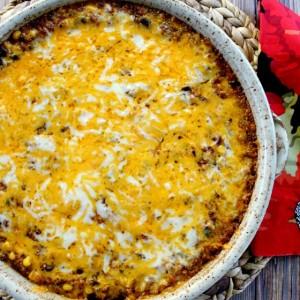 Quinoa Black Bean Enchilada Casserole