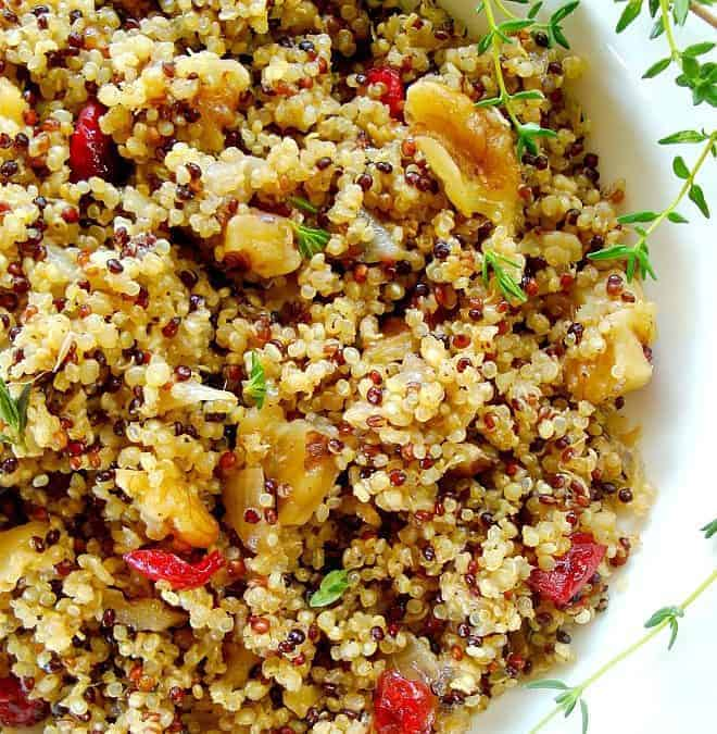 Quinoa Pilaf with Walnuts and Dried Cherries