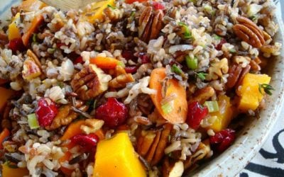 Wild Rice Pilaf with Squash, Cranberries and Pecans