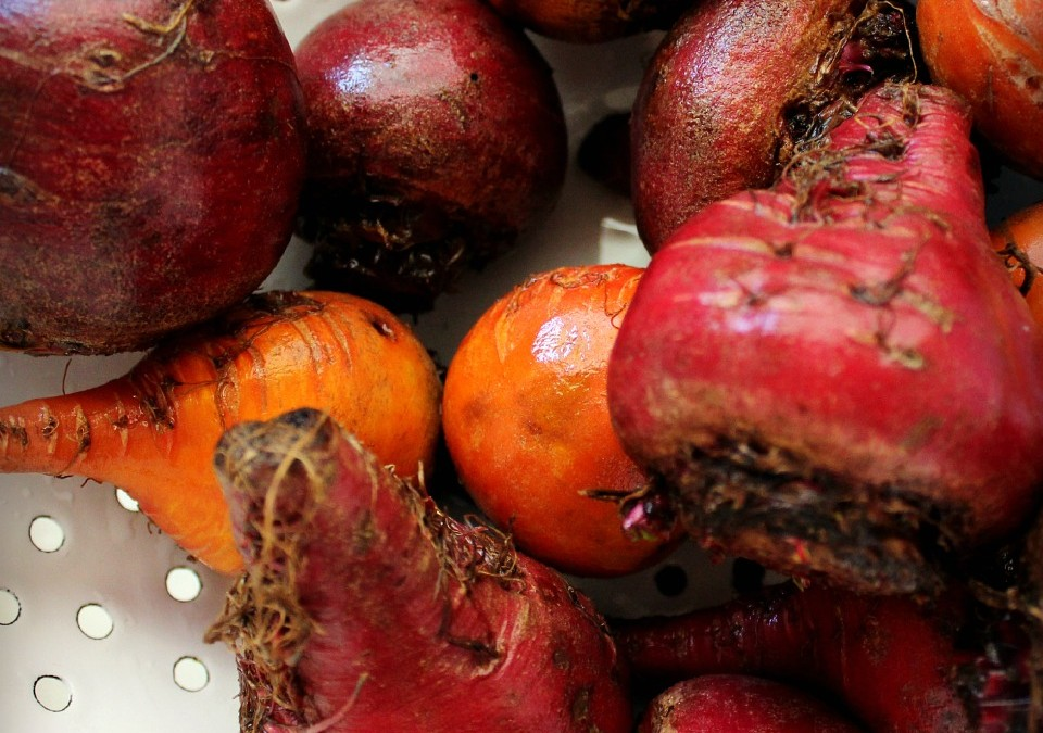 Roasted Beets – and a tart pink grapefruit glaze