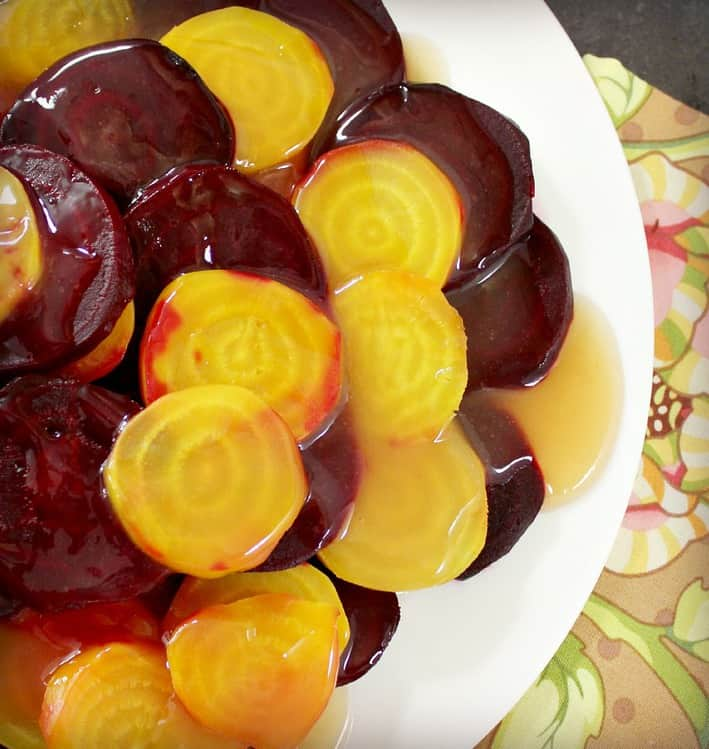 Roasted Beets with Pink Grapefruit Glaze