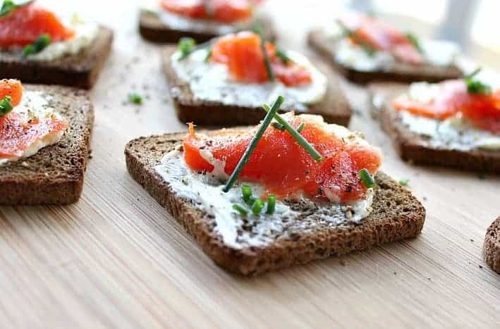Smoked Salmon with Ginger Butter
