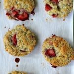 Strawberry, ginger, and poppy seed scones